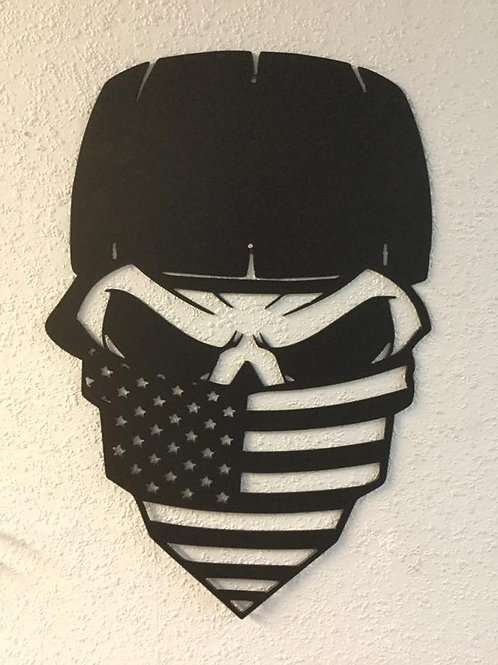 Skull with American Flag