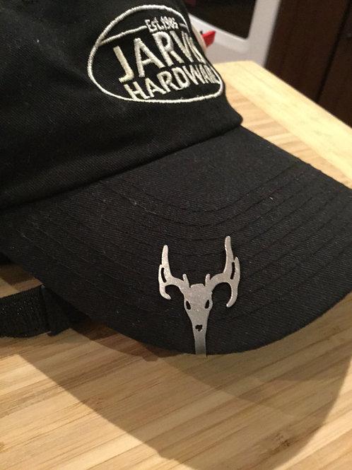 Deer Skull Hat Clip