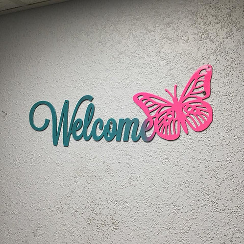 Welcome with Butterfly