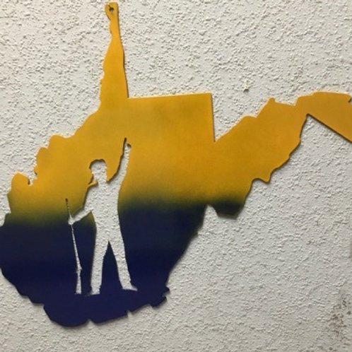 West Virginia With Mountaineer Mascot