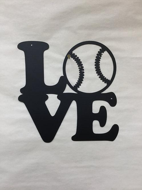Love Baseball Sign