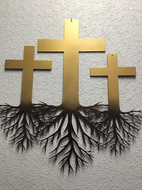 The Trio Rooted in Faith Three Crosses