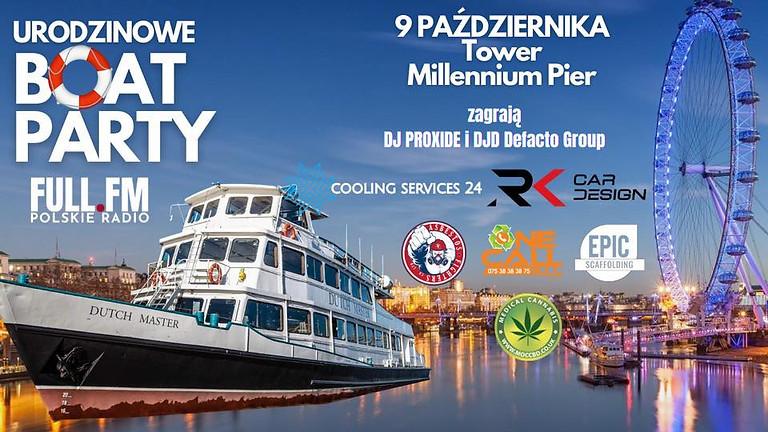 Urodzinowe Boat Party na Tamizie!