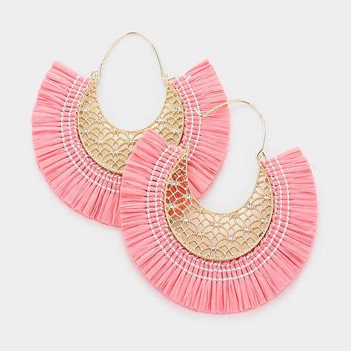 Raffia Solid Earrings