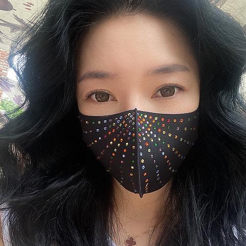 Starburst Rhinestone Mask