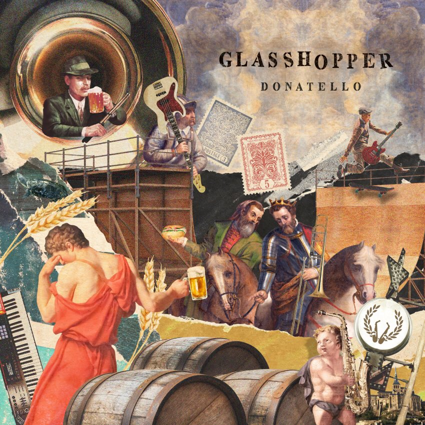 DONATELLO「GLASSHOPPER」ジャケデザイン