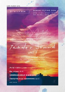 tende sound vol.1フライヤーデザイン