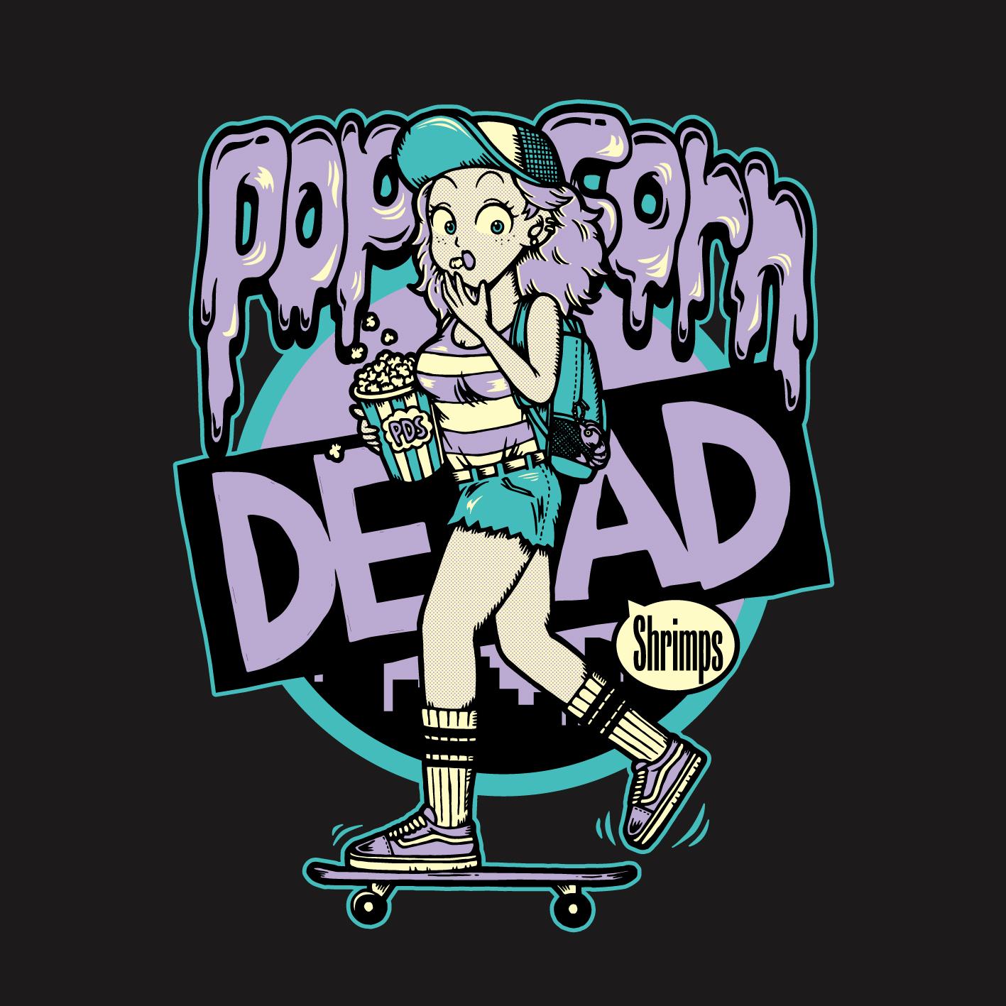 Popcorn DEAD Shrimps Tシャツデザイン