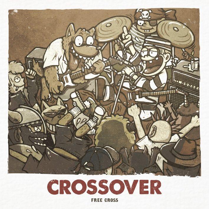 FREE CROSS「CROSSOVER」ジャケットデザイン