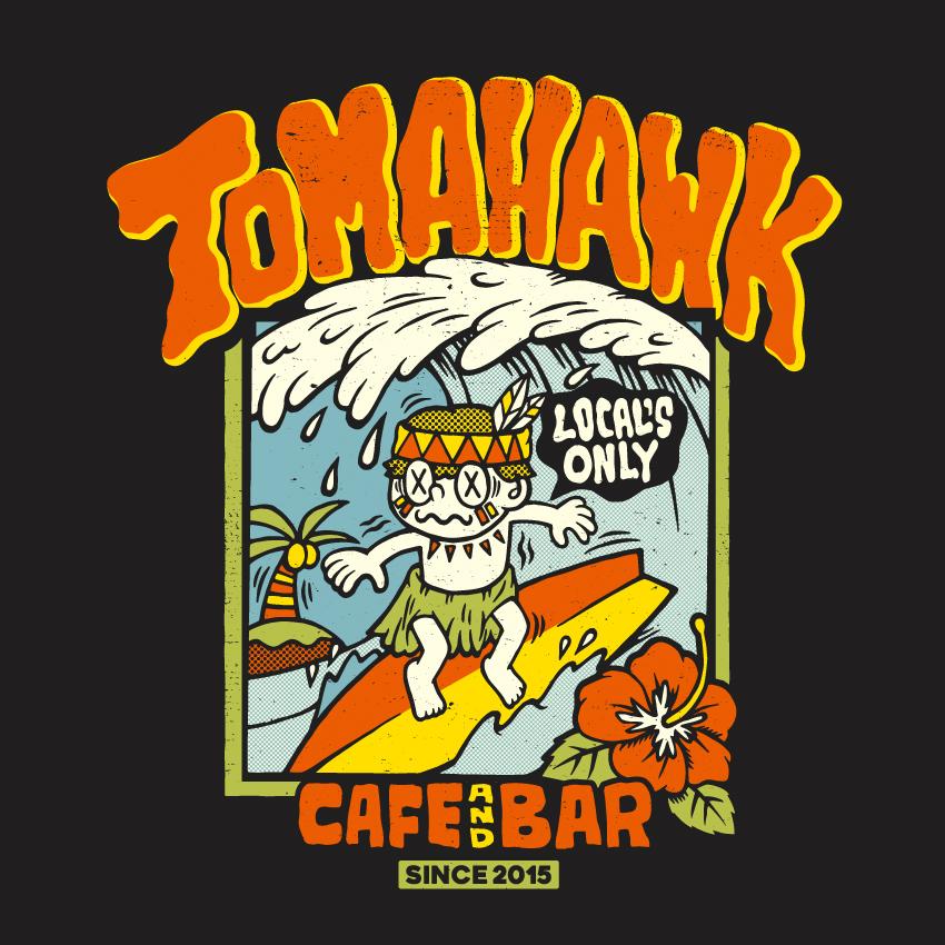 CAFE&BAR TOMAHAWK Tシャツデザイン