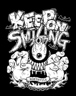 KEEP ON SMILING Tシャツ