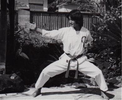 Toru Shimoji as a young Martial Artist