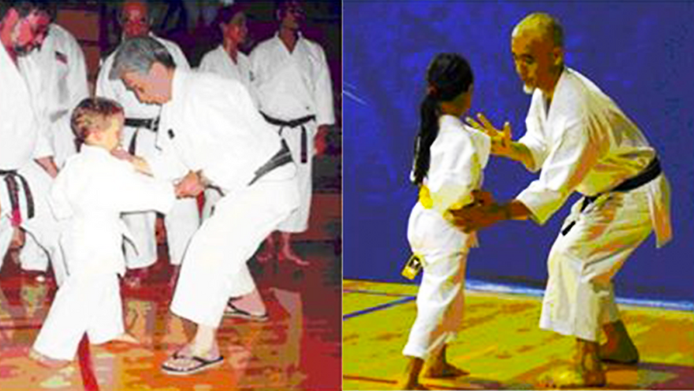 Sensei Nishiyama (left) and Sensei Shimoji (right) giving Tactile Feedback