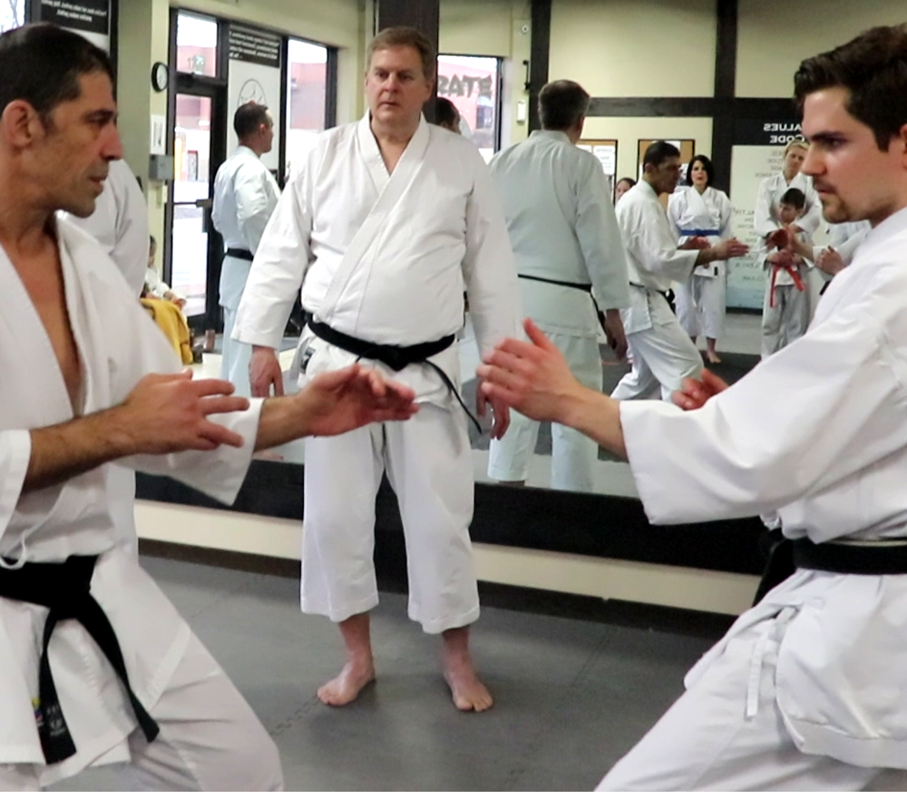Sensei Avi Rokah and Sensei Sean Huchzermeier