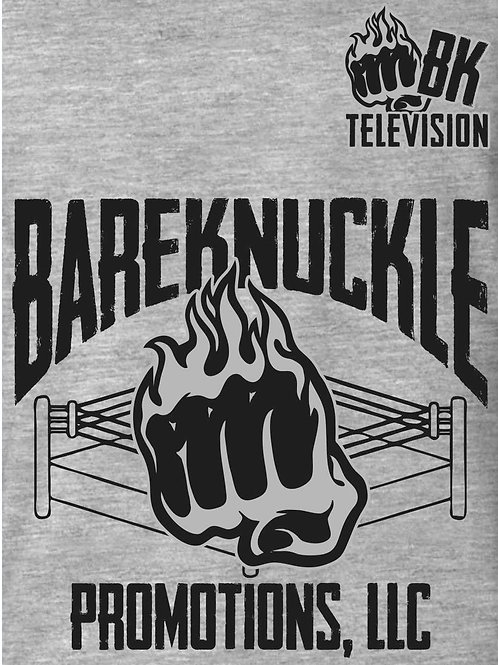 Grey BareKnuckle Promotions T-Shirt