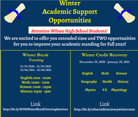 2020 Winter Credit Recovery and Grade Boost Info.