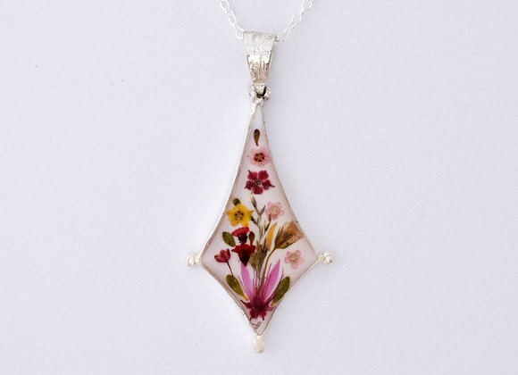 White Triangle Pendant