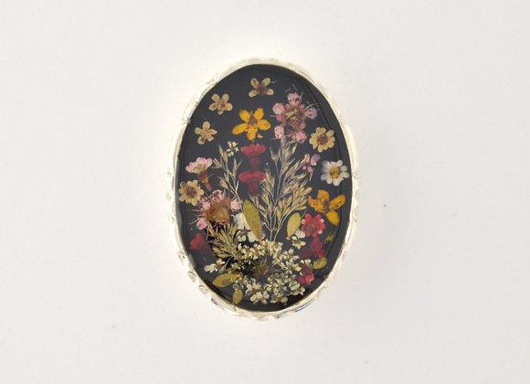 Black Large Ornate Brooch