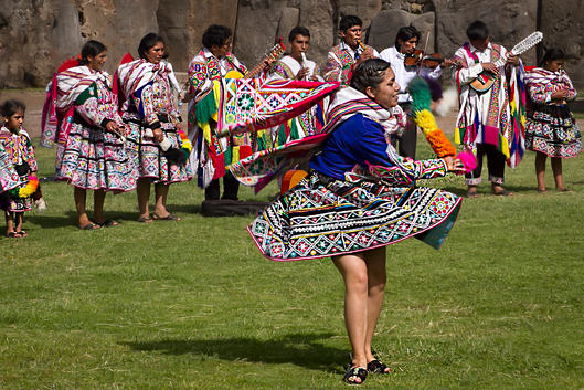 Traditional dance of the Cusco area
