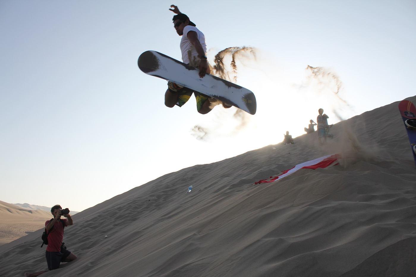 Sandboarding near Huacachina