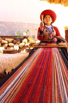 Traditional Incan weaving