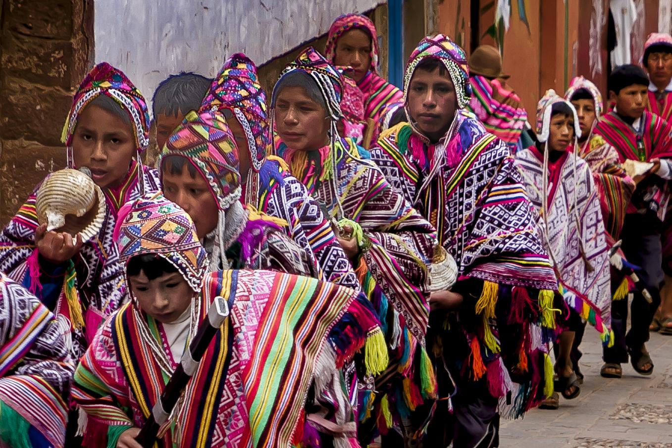 Traditional dress parade