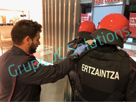 II Simulacro de Emergencias, coordinación de FFCCS y Seguridad Privada. Vitoria 2019