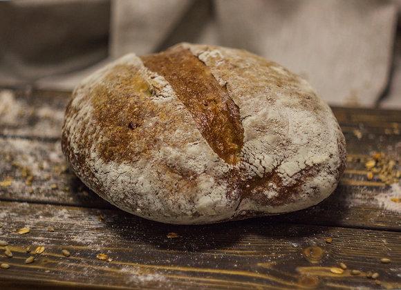 Деревенский подовый хлеб без дрожжей