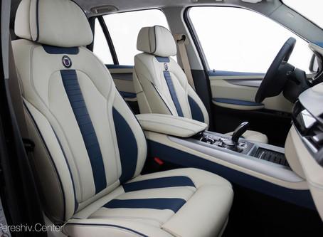 Перетяжка салона BMW кожей в стиль Alpine