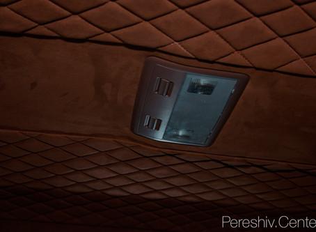 Перетяжка салона Toyota Invader кожей