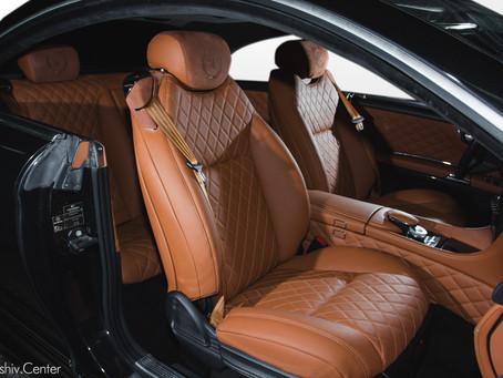 Перетяжка салона Mercedes-Benz CL500 кожей и алькантарой