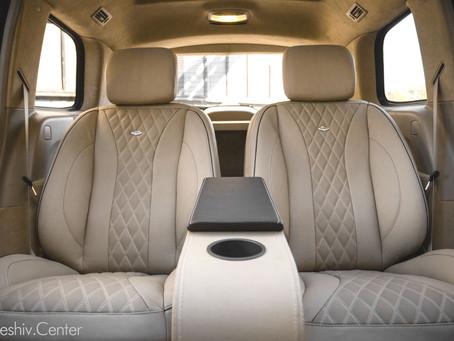 Перетяжка салона Mercedes-Benz GL: бежевый цвет и комфортные сиденья