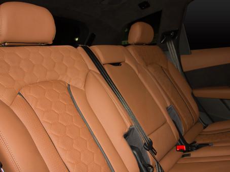 Перетяжка салона Audi RS натуральной кожей