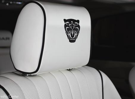 Перетяжка салона Jaguar XJ: черно-белый хищник
