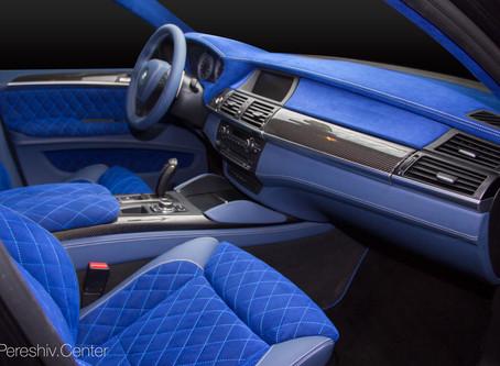 Перетяжка салона BMW X6 Hamann
