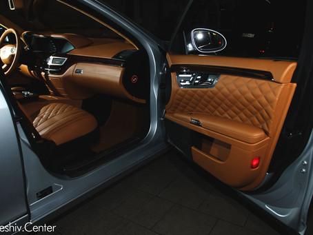 Перетяжка салона Mercedes-Benz S-Class W221