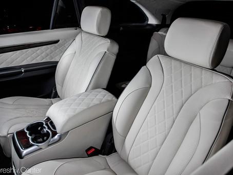 Перетяжка салона Mercedes-Benz R-Класс натуральной кожей