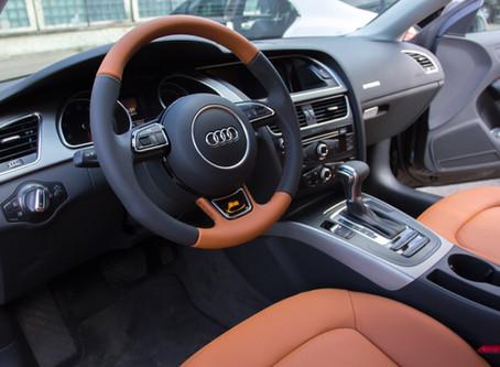 Перетяжка салона Audi A5 натуральной кожей