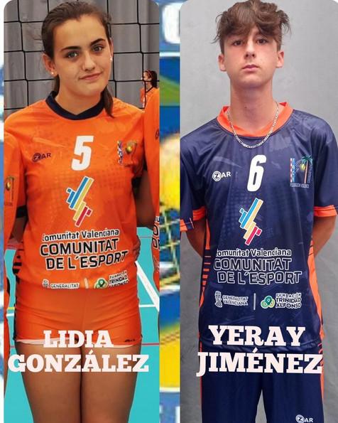 Lidia González para la U14 y Yeray Jiménez (2007) para la U15 de la Selección Española