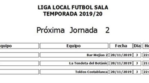 Empieza la liga local de fútbol sala en Villajoyosa
