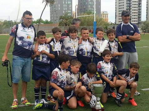 El equipo del Rugby La Vila Sub10 se proclamó campeón de las concentraciones autonómicas 2015