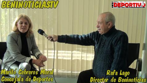 Vídeo entrevista con la Concejala de Deportes, Mariló Cebreros Moral