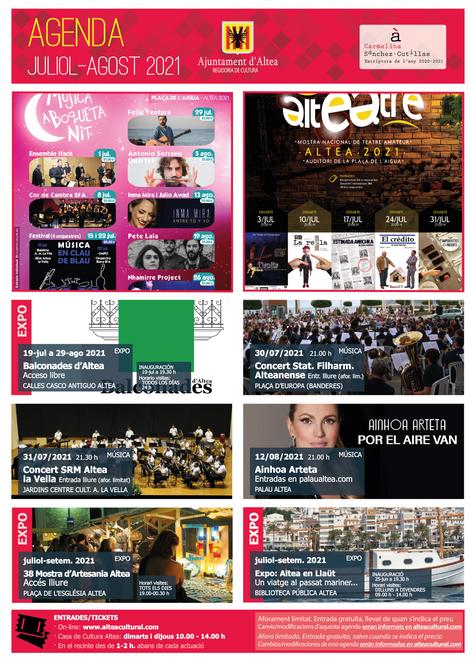 Agenda cultural comarcal del 12 al 18 de julio