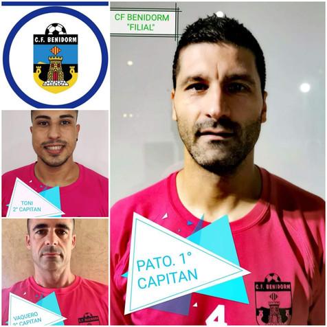 Presentación de los tres capitanes del CF Benidorm B