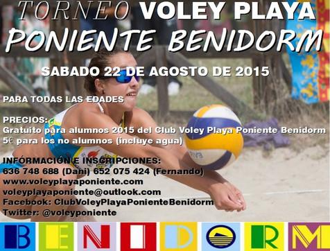 Torneo Voley Playa Poniente Benidorm