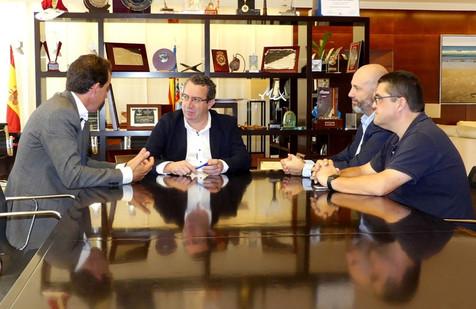 La nueva directiva del Benidorm Club de Golf presenta sus proyectos al alcalde