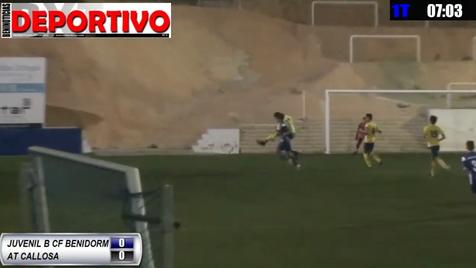 Partido entre el Juvenil B del CF Benidorm y el At. Callosa, que hemos ofrecido en directo