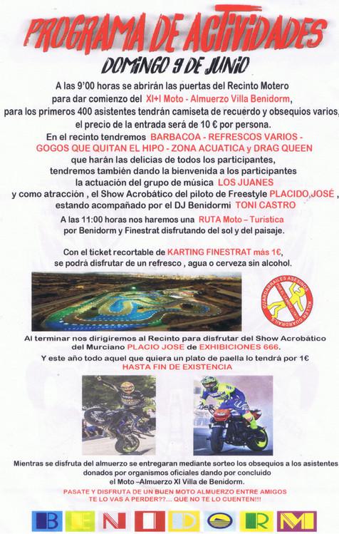 El 9 de junio, la Asociación Los Buhos Benidorm organiza su Motoalmuerzo anual (vídeo entrevista)