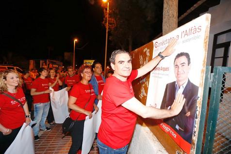 Los 8 años de gestión progresista en L'Alfàs avalan la candidatura de Vicente Arques