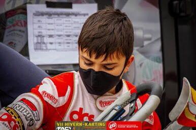 El joven piloto alfasino de Karts, Oliver Claeys, entre los 10 mejores corredores en la Copa Hivern